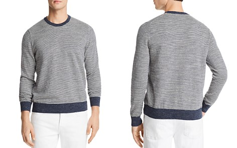 The Men's Store at Bloomingdale's Mini-Stripe Crewneck Sweatshirt - 100% Exclusive_2