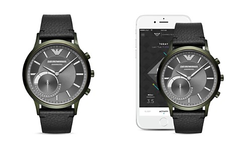 Armani Connected Olive-Tone Hybrid Smartwatch, 43mm - Bloomingdale's_2