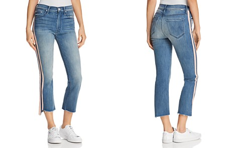 MOTHER Insider Cropped Frayed-Ankle Jeans in Good Girls Race - 100% Exclusive - Bloomingdale's_2