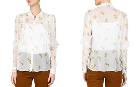 The Kooples Popcorn Floral-Print Sheer Silk Shirt - Bloomingdale's_2