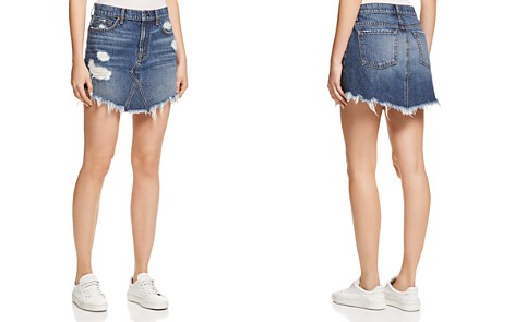 7 For All Mankind Frayed Hem Denim Skirt in Montreal 4 - Bloomingdale's_2