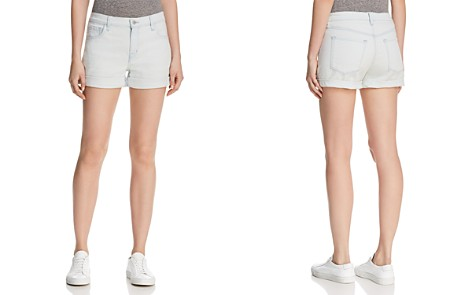 J Brand Johnny High-Rise Cuffed Denim Shorts in Powdered - Bloomingdale's_2