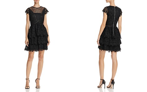 AQUA Tiered Lace Dress - 100% Exclusive - Bloomingdale's_2
