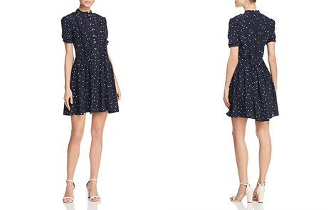 The Kooples Dame de Ceur Heart-Print Silk Dress - 100% Exclusive - Bloomingdale's_2