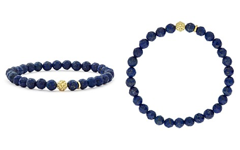 LAGOS 18K Gold Caviar Icon Lapis Beaded Stretch Bracelet, 6mm - Bloomingdale's_2