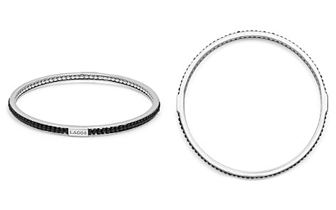 LAGOS Sterling Silver Caviar Icon Onyx Beaded Bangle Bracelet - Bloomingdale's_2