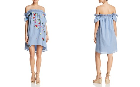 Joie Clarimonde Off-the-Shoulder Chambray Dress - Bloomingdale's_2