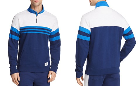Calvin Klein Rugby Stripe Quarter-Zip Sweatshirt - 100% Exclusive - Bloomingdale's_2