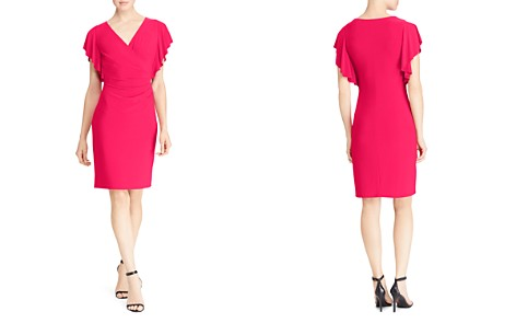Lauren Ralph Lauren Petites Flutter-Sleeve Dress - Bloomingdale's_2
