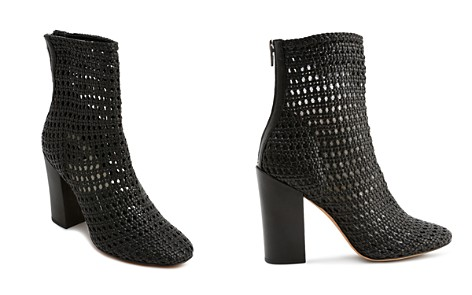 Dolce Vita Women's Woven Leather Block Heel Booties - Bloomingdale's_2