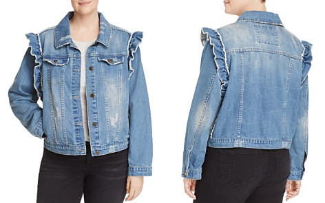 Bagatelle Plus Ruffled Denim Jacket - Bloomingdale's_2
