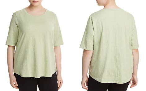 Eileen Fisher Plus Organic Cotton Slub-Knit Tee - Bloomingdale's_2
