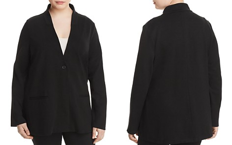 Eileen Fisher Plus Ponte Knit Stand-Collar Blazer - Bloomingdale's_2