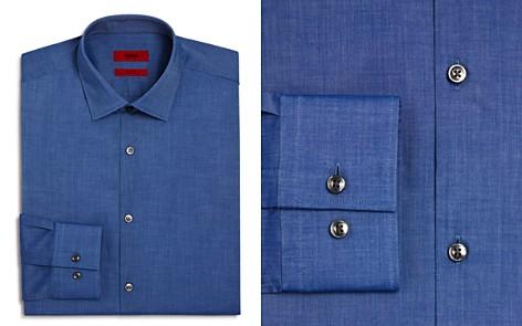 HUGO Solid Chambray Slim Fit Dress Shirt - Bloomingdale's_2