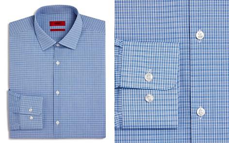 HUGO Micro-Check Regular Fit Dress Shirt - Bloomingdale's_2
