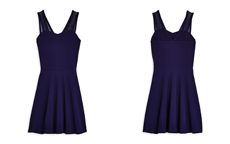 AQUA Girls' Knit Dress with Mesh Straps, Big Kid - 100% Exclusive - Bloomingdale's_2