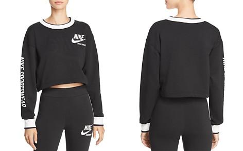 Nike Reversible Cropped Sweatshirt - Bloomingdale's_2