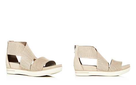 Eileen Fisher Womens' Sport Perforated Nubuck Leather Platform Sandals - Bloomingdale's_2