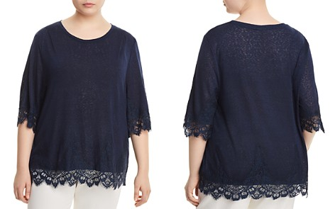 B Collection by Bobeau Curvy Reeve Lace-Trim Tee - Bloomingdale's_2