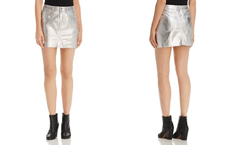 Sunset + Spring Metallic Denim Mini Skirt - 100% Exclusive - Bloomingdale's_2