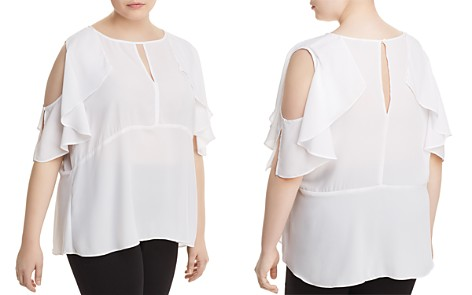 B Collection by Bobeau Curvy Pamela Cold-Shoulder Top - Bloomingdale's_2