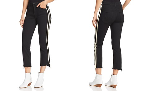 MOTHER Insider Striped Crop Step-Hem Fray Jeans in Guilty Racer - Bloomingdale's_2