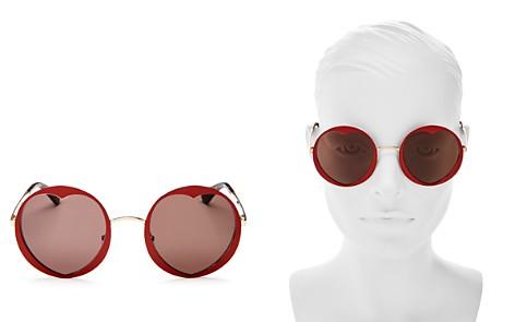 kate spade new york Women's Rosaria Round Heart Sunglasses, 53mm - Bloomingdale's_2