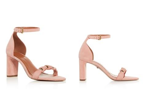 COACH Women's Suede Ankle Strap Block Heel Sandals - Bloomingdale's_2