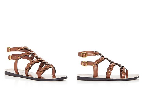 COACH Women's Coach Link Leather Gladiator Sandals - Bloomingdale's_2