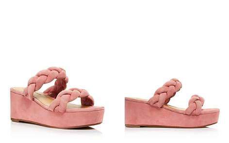 Rebecca Minkoff Women's Imani Braided Suede Platform Slide Sandals - 100% Exclusive - Bloomingdale's_2