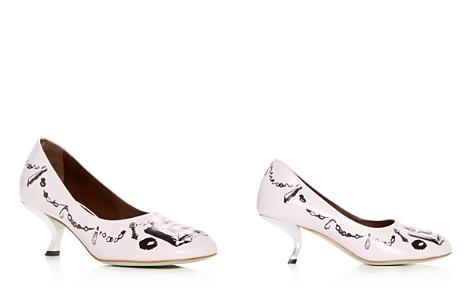 Marni Women's Leather Kitten Heel Pumps - Bloomingdale's_2