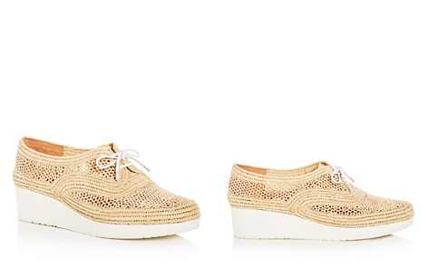 Robert Clergerie Women's Vicoleo Woven Raffia Platform Wedge Oxfords - Bloomingdale's_2