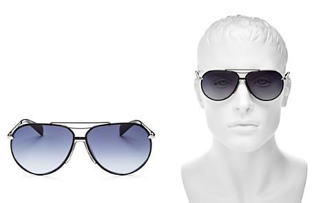 rag & bone Runway Vintage Brow Bar Aviator Sunglasses, 63mm - Bloomingdale's_2
