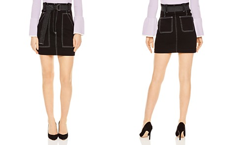 Sandro Elen Contrast-Stitched A-Line Mini Skirt - Bloomingdale's_2