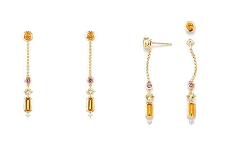 David Yurman Novella Drop Earrings in Citrine, Yellow Beryl & Pink Sapphire with Diamonds - Bloomingdale's_2
