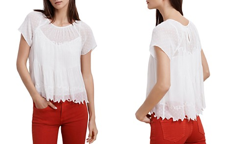 Velvet by Graham & Spencer Aniyah Pintuck Top - Bloomingdale's_2
