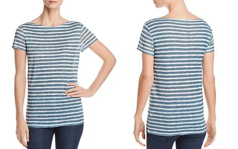 Majestic Filatures Linen Short-Sleeve Striped Top - Bloomingdale's_2