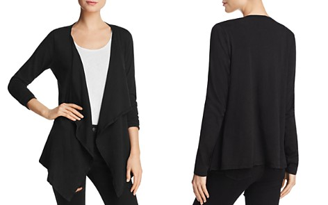 Velvet by Graham & Spencer Champagne Open-Front Cardigan - Bloomingdale's_2