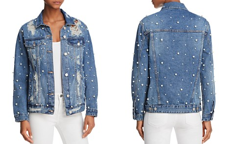 Sunset + Spring Embellished Distressed Denim Jacket - 100% Exclusive - Bloomingdale's_2
