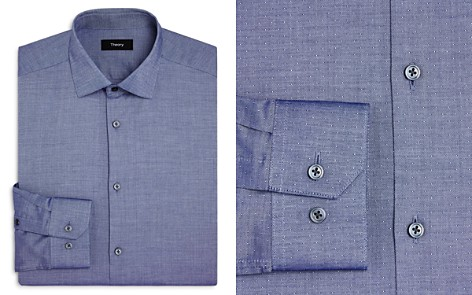 Theory Textured Dobby Slim Fit Dress Shirt - Bloomingdale's_2