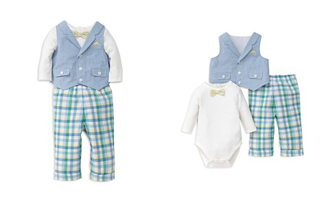 Little Me Boys' Handsome Vest, Bodysuit & Pants Set - Baby - Bloomingdale's_2