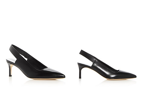 Via Spiga Women's Blake Leather Slingback Kitten Heel Pumps - Bloomingdale's_2