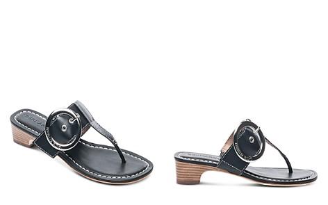 Bernardo Women's Leather Buckle Block Heel Thong Sandals - Bloomingdale's_2