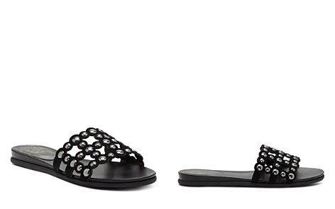 VINCE CAMUTO Women's Ellanna Studded Leather Cage Slide Sandals - Bloomingdale's_2
