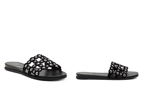 VINCE CAMUTO Women's Ellanna Studded Leather Cage Slide Sandals - Bloomingdale's_2