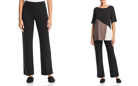 Eileen Fisher Petites Straight-Leg Pull-On Pants - Bloomingdale's_2