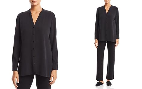 Eileen Fisher Petites Silk Top - Bloomingdale's_2
