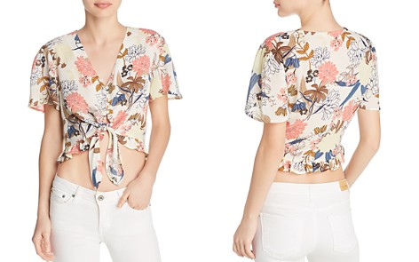 Beltaine Printed Tie-Front Crop Top - 100% Exclusive - Bloomingdale's_2