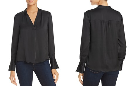 Kenneth Cole V-Neck Long Sleeve Blouse - Bloomingdale's_2