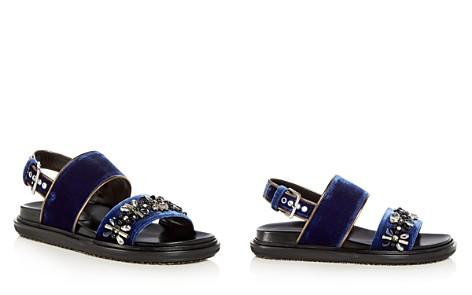Marni Women's Fusbett Embellished Velvet Slingback Sandals - Bloomingdale's_2